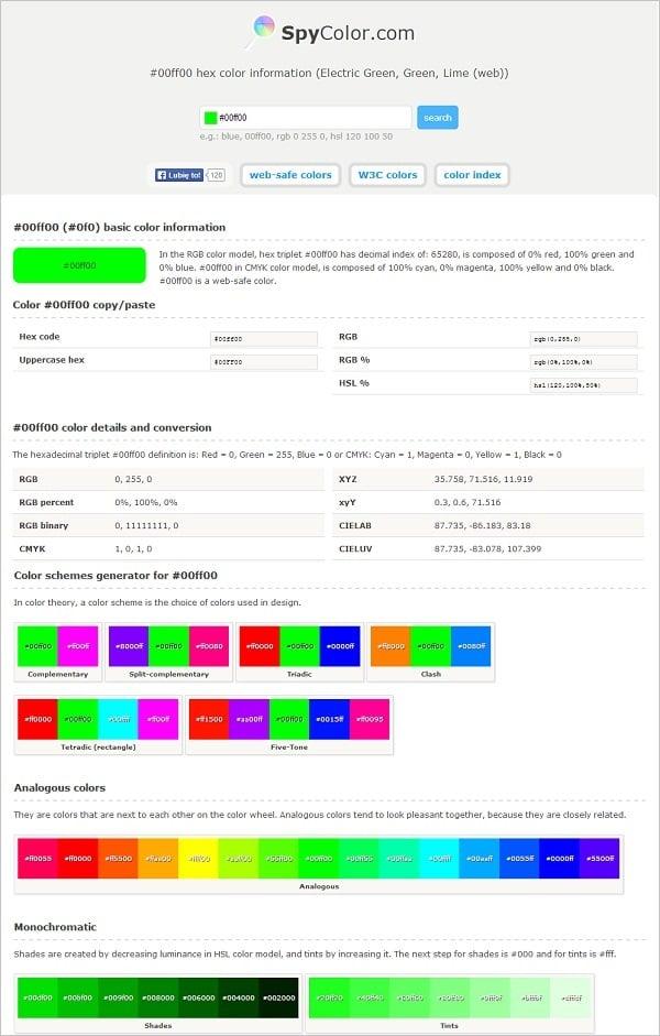 SpyColor Color Palette Generator