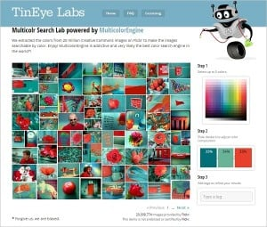 Tineye Labs Color Palettes