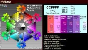 Visibone Color Palette Generator