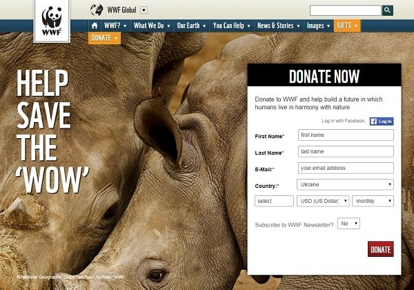 WWF Conversion Optimization Landing Page