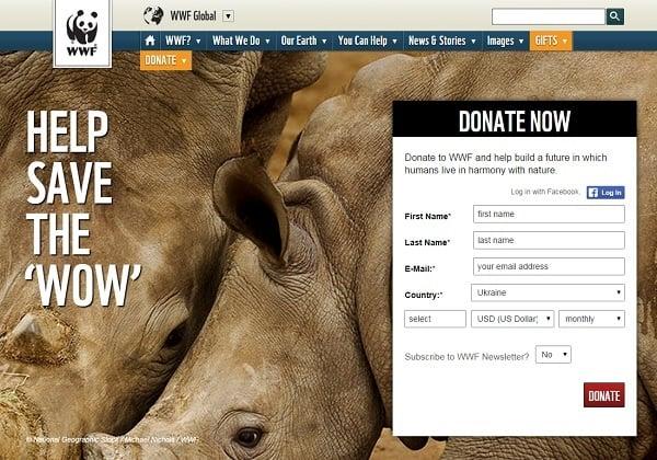 WWF Conversion Optimization Landing Page