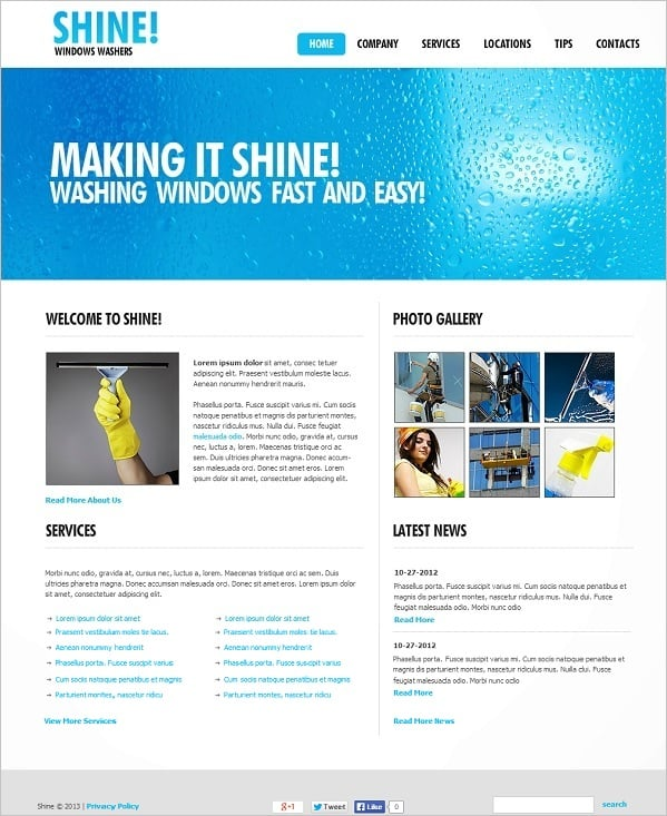 Cleaning Company Flash Web Template
