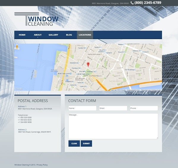 Window Cleaning Firm Web Template