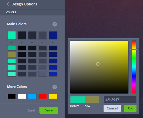 MotoCMS 3.0 - Color Picker