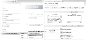 Firefox Screenshot Capture Addons - Screen Grab with Online Uploader