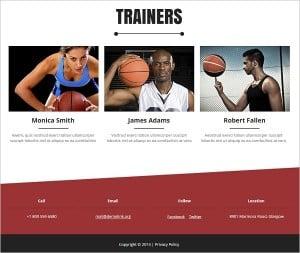 Website Footer - Basketball Website Template