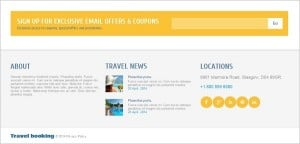 Website Footer - Travel Agency Website Template