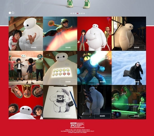 Website Footer - Big Hero 6