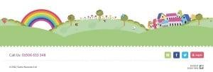 Website Footer - My Rainbow Nursery