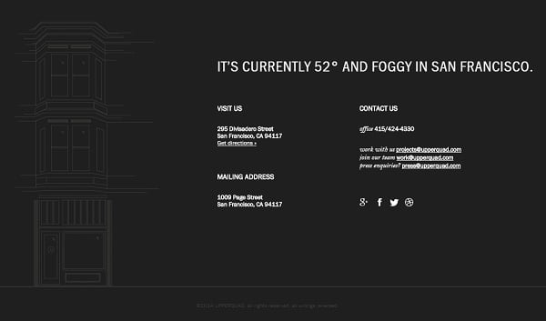 Website Footer - Upperquad