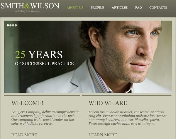 Combining Fonts - Consulting Firm Website Template