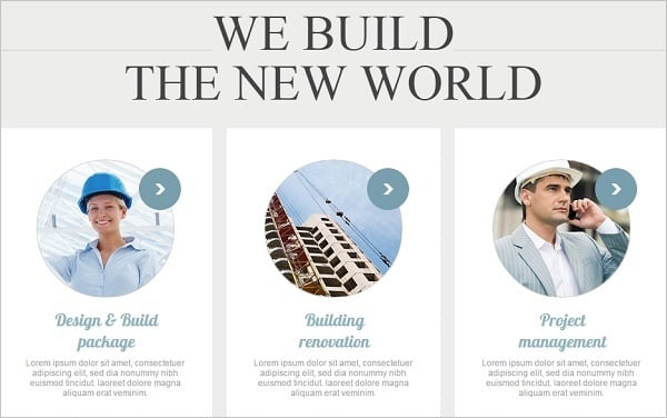 Combining Fonts - Architecture Company Web Template