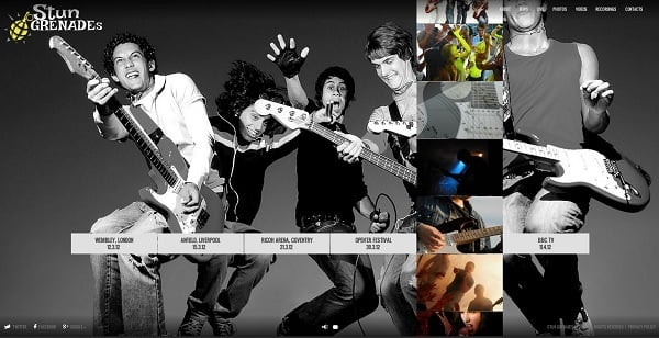 Music Band Website Template with Vertical Gallery