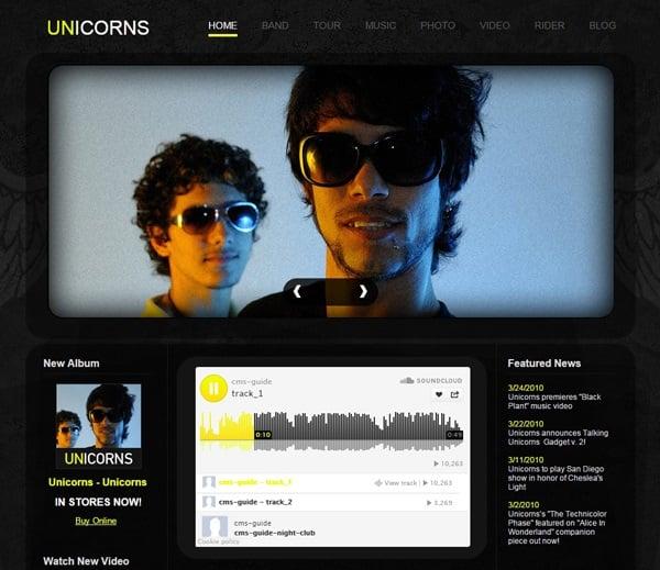 Dark-Toned Music Band Website Template