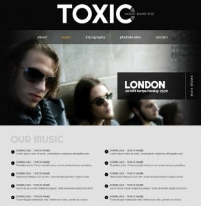 Music Band Web Template with Download Section