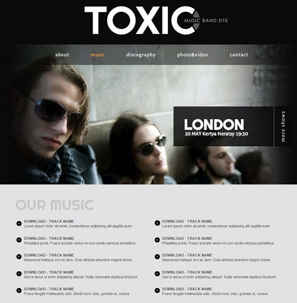 Music Band Website Templates that Will Rock You