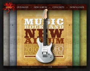 Vintage-Style Music Band Web Template