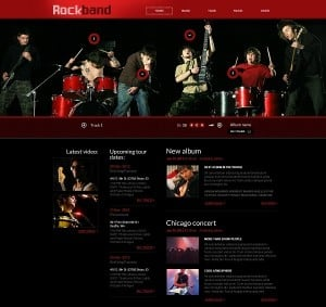 Music Band Web Template with a Huge Header
