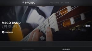 Music Band Web Template with Large Background