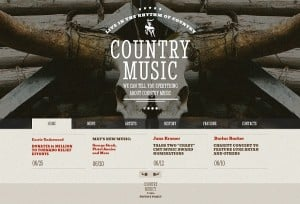 Country Music Band Website Template