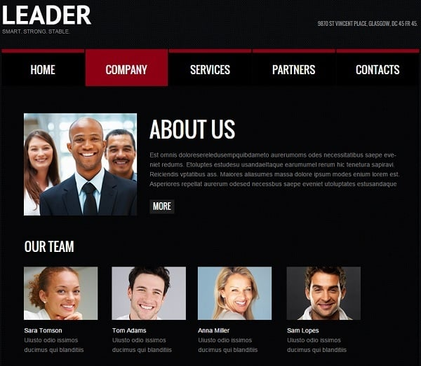 Consulting Web Template in Black