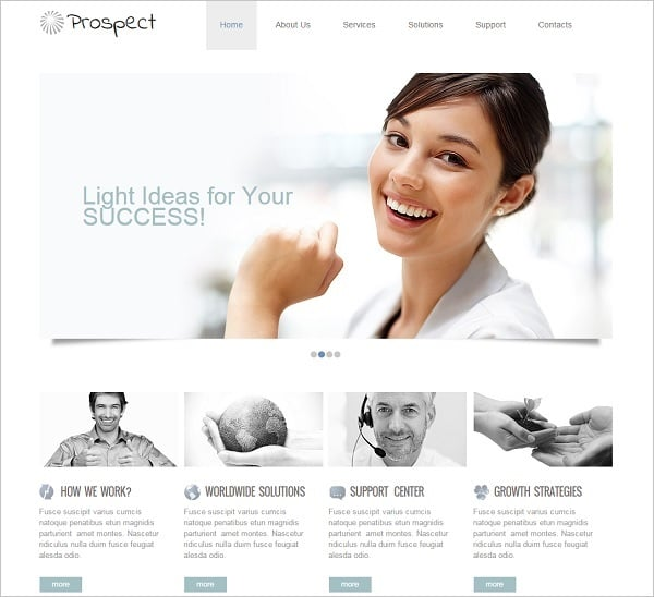 Clean-Style Consulting Website Template