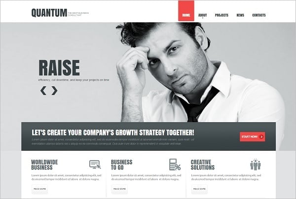 Content-Focused Website Template