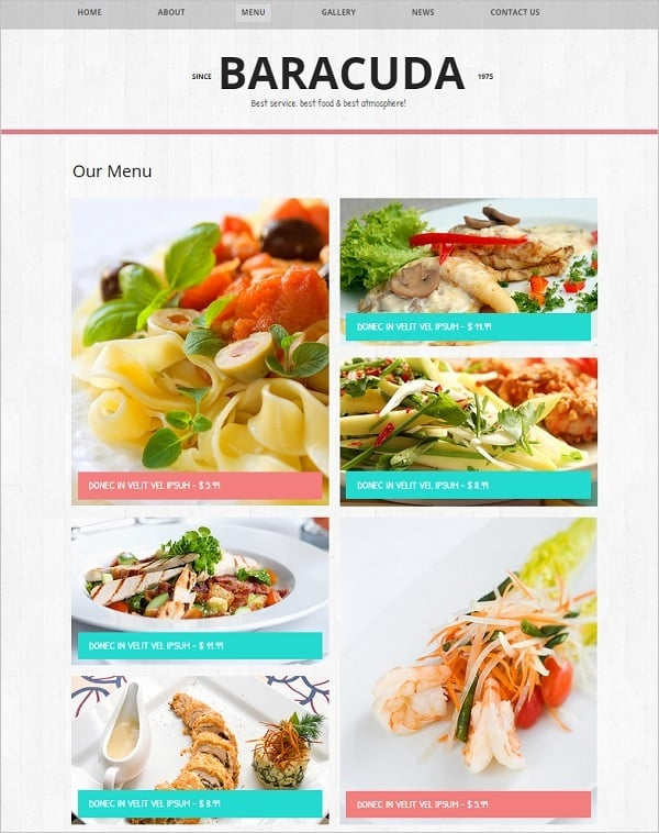 Restaurant Web Template with Cool Design