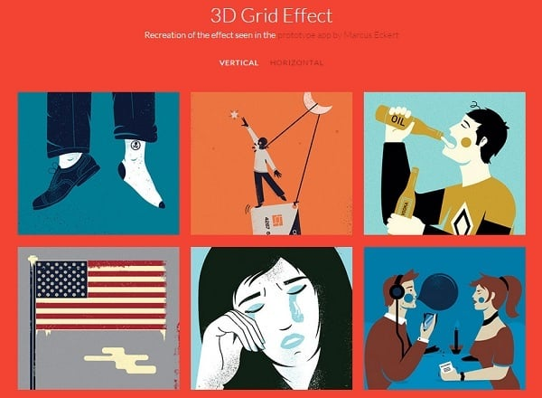 jQuery Grid Gallery Plugins - 3D Grid Effect