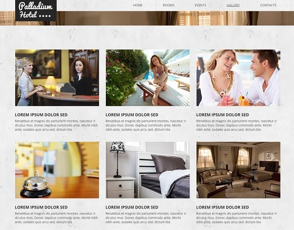 Hotel Industry Website Template