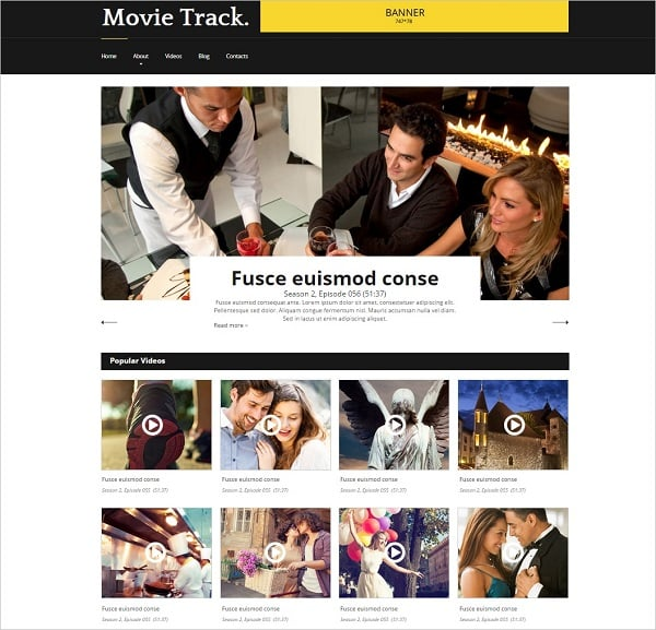 Template for Movie Studio Website