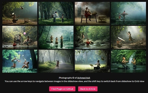 Responsive jQuery Grid Gallery Plugin