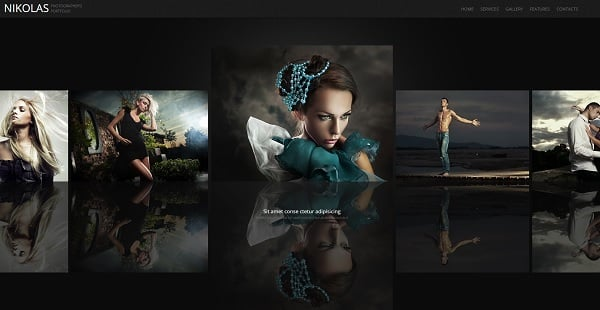 Make a Photo Portfolio Website - Dark-Toned Portfolio Website Template