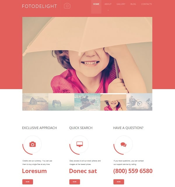 Make a Photo Portfolio Website - Website Template in Warm Colors