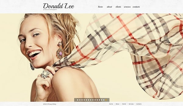 Make a Photo Portfolio Website - Portfolio Web Template with Background Slider