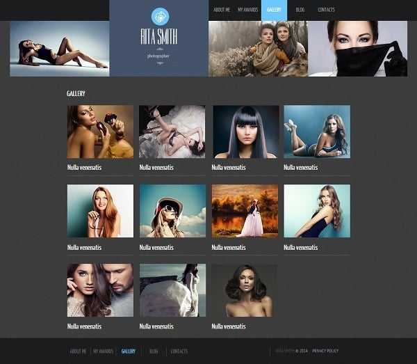 Make a Photo Portfolio Website - Photo Portfolio Web Template with Grid Gallery