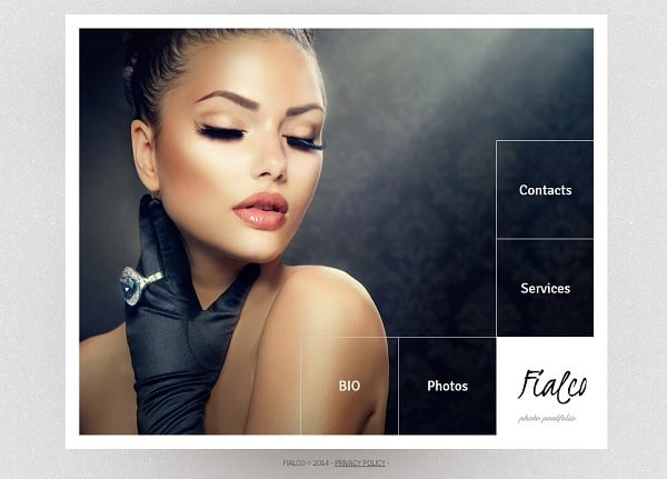 Make a Photo Portfolio Website - Template with Large Navigation Menu