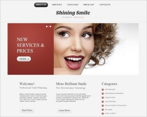 Dental Website templates - Template with accents