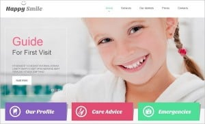 Dental Website Templates - template in Metro-Style