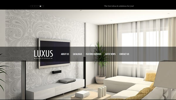 Interior and Furniture Studio Web Template
