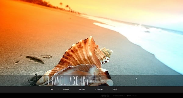 Travel Agency Web Template with Fixed Menu