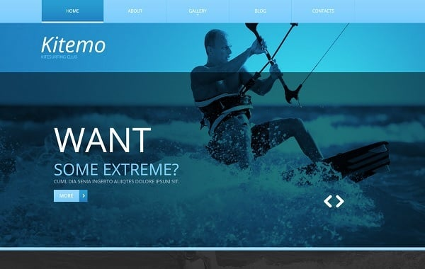 Hero Images Web Design - Water Sports Website Template