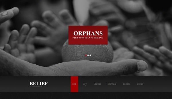 Charity Organization Web Template
