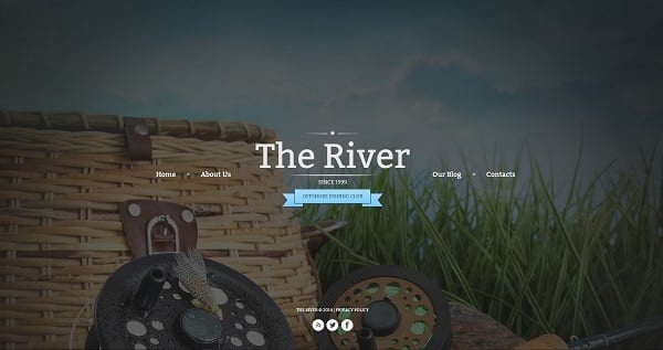 Hero Images Web Design - Web Template for Fishing Club