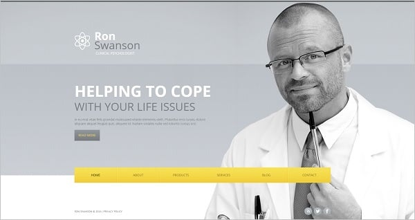 Personal Website Template for Psychologist