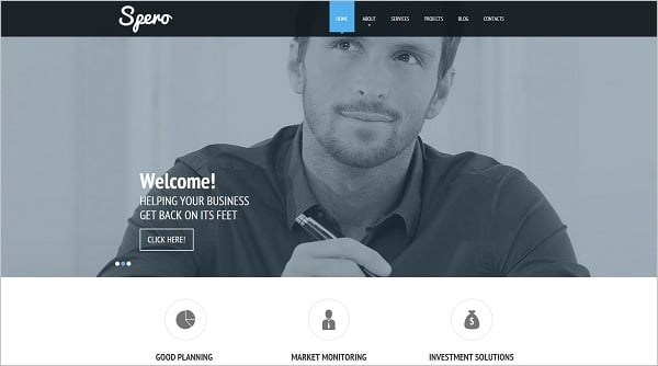 Clean Website Template for Entrepreneurs