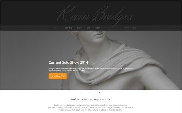 Sculptor Portfolio Web Template