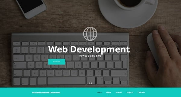 Hero Images Web Design - Web Template for Web Development Studio