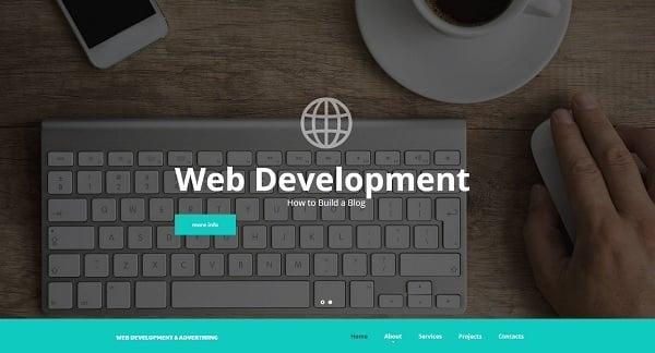 Hero Images Web Design - Web Template for Web Development Studio
