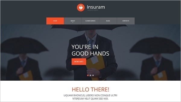 Web Template for Insurance Company
